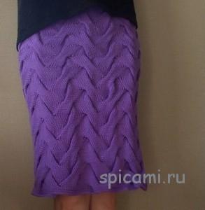вязаная юбка с косами
