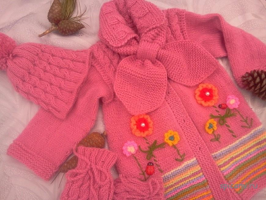 Мастер класс по вязанию пальто для девочки 511