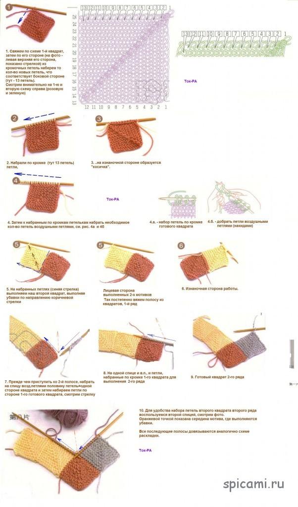 Как вязать крючком в стиле пэчворк