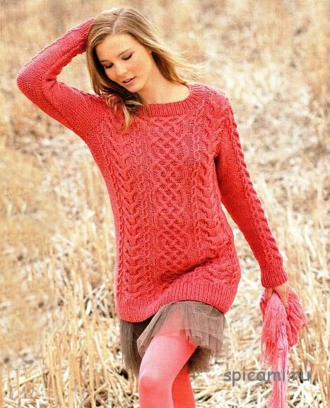Вязание спицами-свитера женские