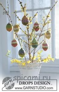 яйца на пасху спицами