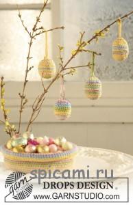вяжем яйца на пасху