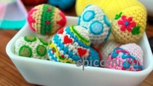 красивые вязаные яйца