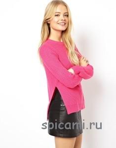 свитер с разрезами