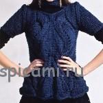 Вязаный пуловер с косами (20 моделей с описанием)