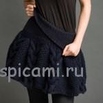 Вязаные юбки спицами (12 моделей с описанием)