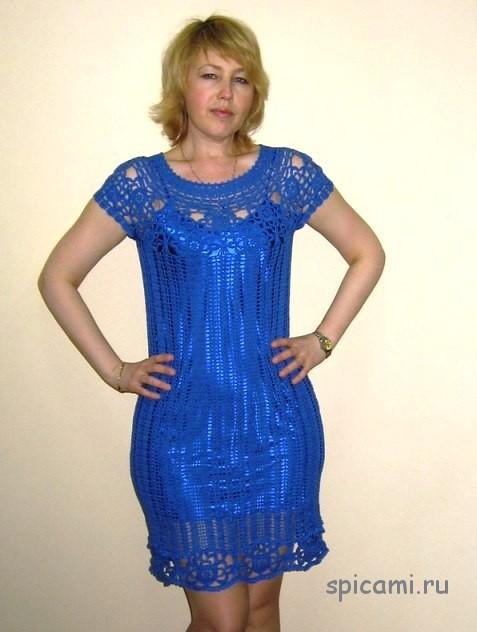 Женские платья костюмы мз мотивов крючком