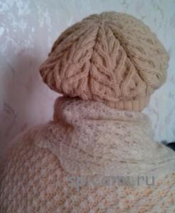 вязаный берет герда вязание спицами крючком уроки вязания