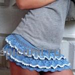 Вязаные юбки – очень красивые модели для пляжа