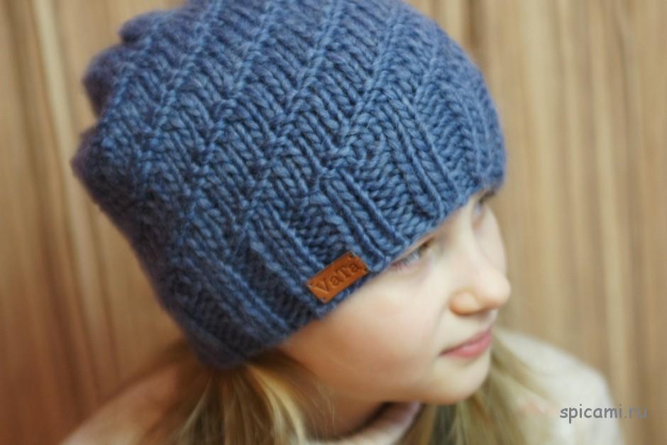 Видеоуроки по вязанию спицами шапки 8