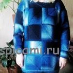Красивый вязаный свитер – авторская работа