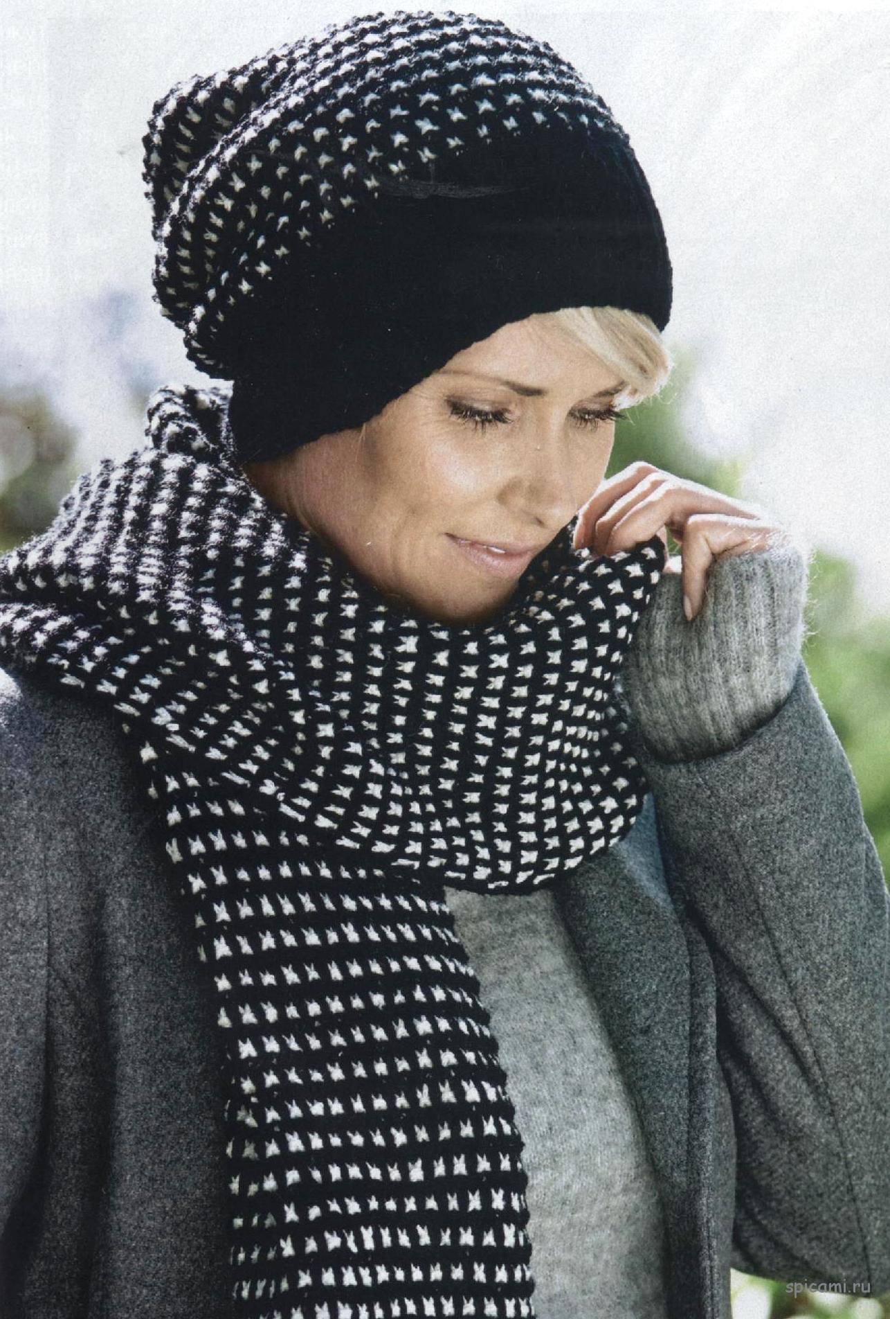 шапки, шарфы, снуды   Вязание спицами, крючком, уроки вязания