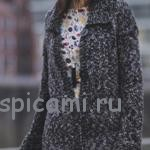 Вязаное пальто на весну