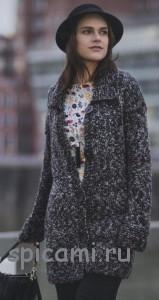 вязаное пальто с описанием
