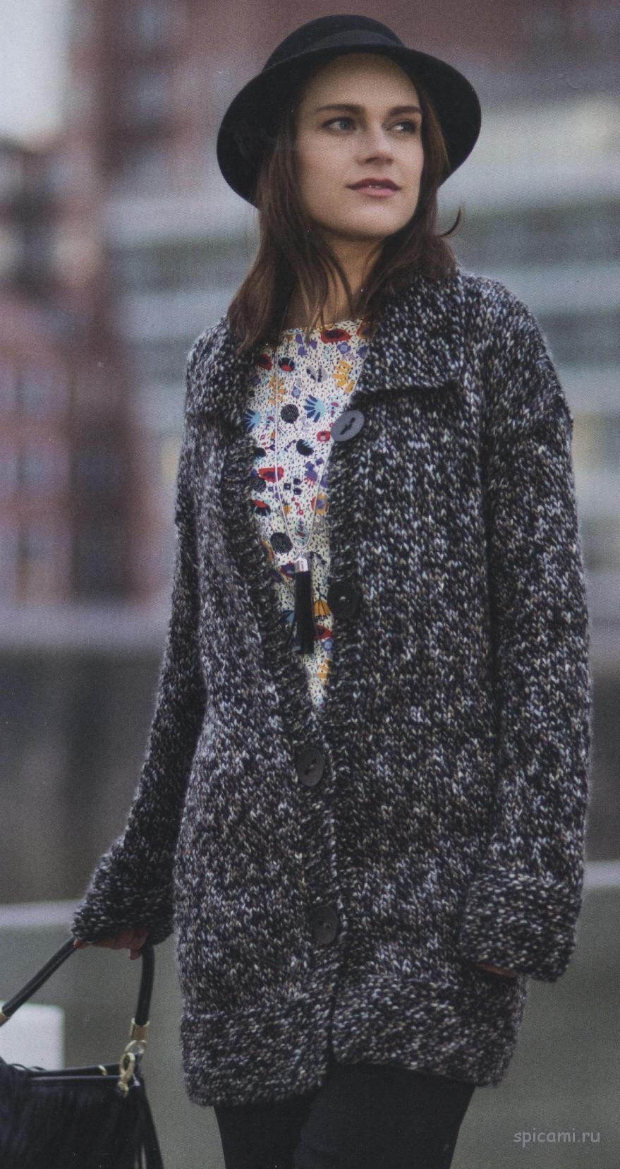 Простой и практичный ажурный шарфик — Вязание спицами