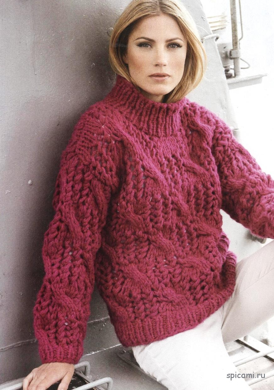 Вязание свитер с накидкой
