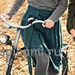 Вязаная юбка с широким поясом