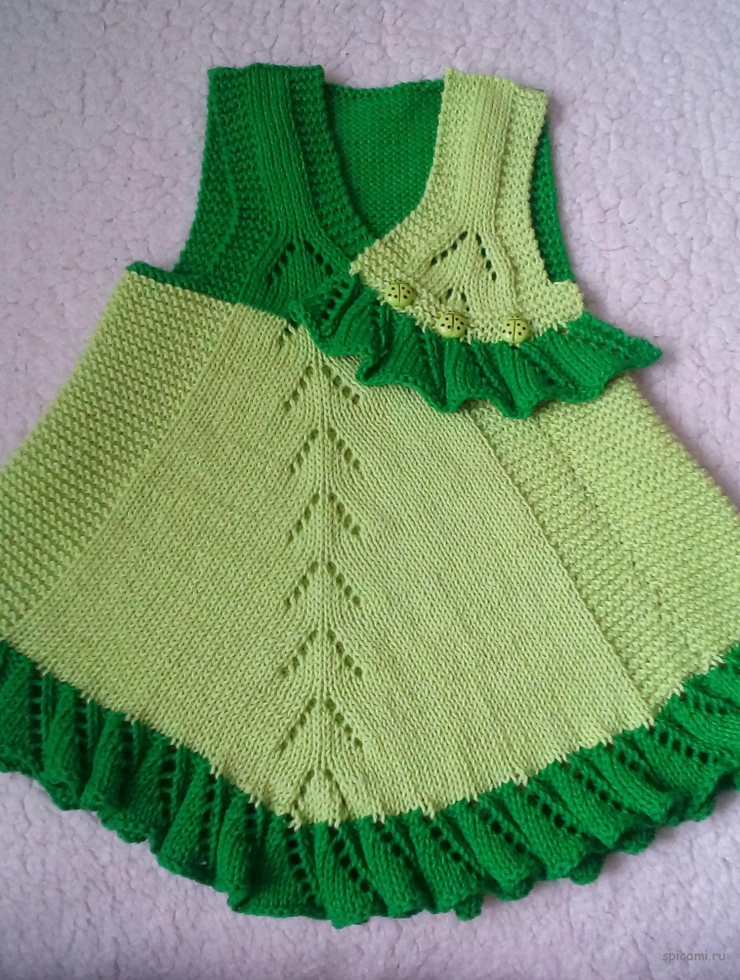 Вязание платья и туники для девочек 777