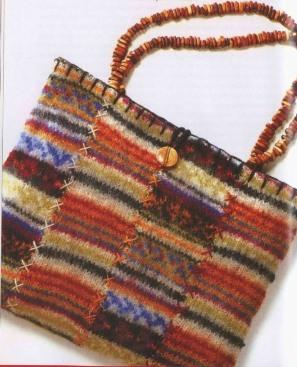 Пестрая войлочная сумка