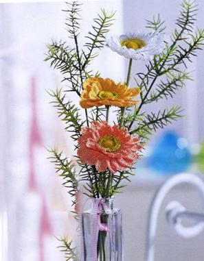 Герберы (из серии «Вязаные цветы»)