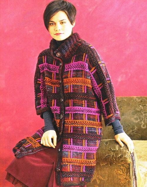 Вязаное пальто в английском стиле