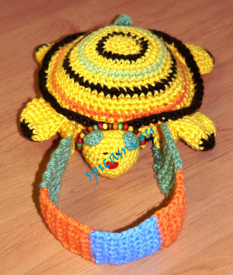 Вязаная сумка-черепашка (как связать сумку для девочки)