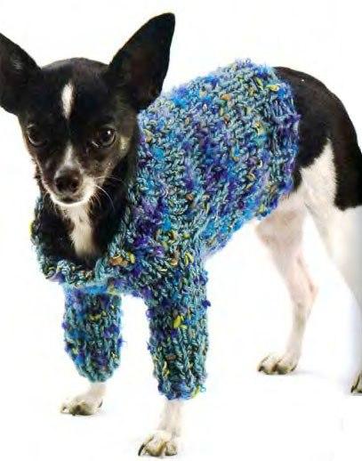 Вязаный джемпер для собаки