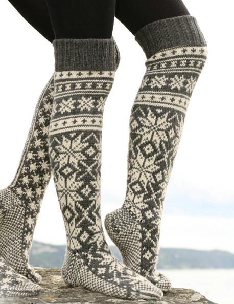 Носки с норвежским рисунком