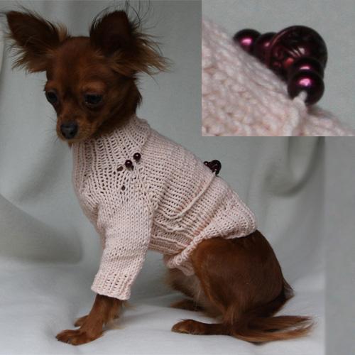 как связать свитер для собаки мастер класс своими руками