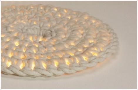 Вязаный ковёр с подсветкой от Imu Design