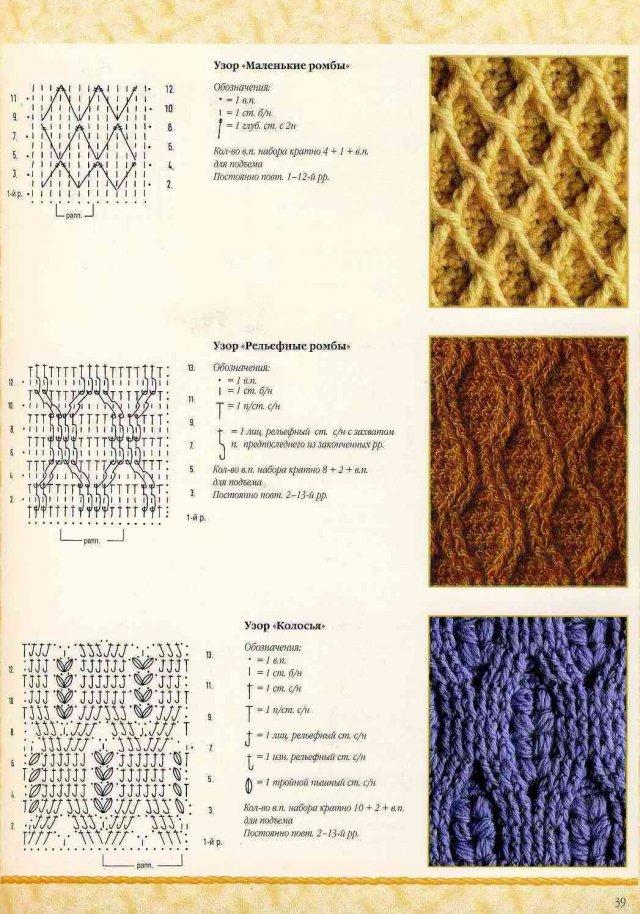 Узоры вязаные плетеные спицами фото со схемами следует помнить