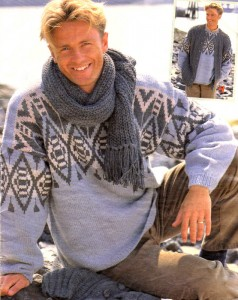 вязание мужских шарфов