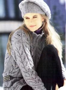 вязание свитер и шапочка