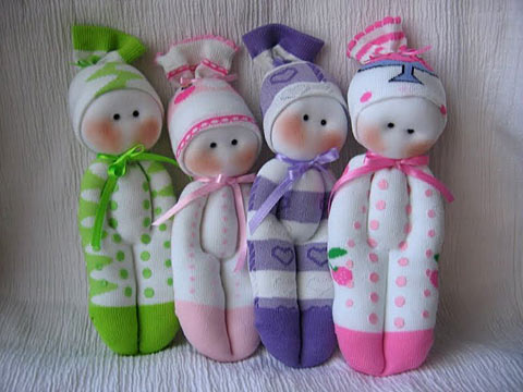 Куклы из носков (Socks pups)