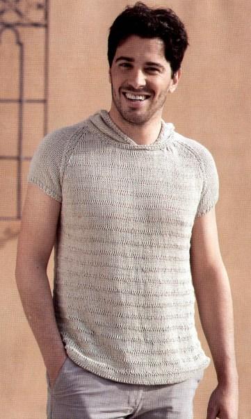 Пуловер с короткими рукавами (из рубрики Вязание для мужчин)