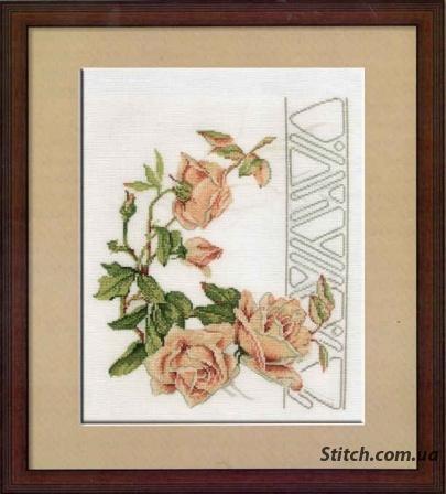 Вышивка «Чайная роза»
