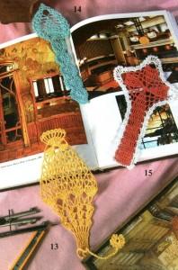 вязаные закладки для книг