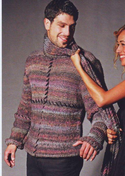 Меланжевый пуловер (Вязание для мужчин)