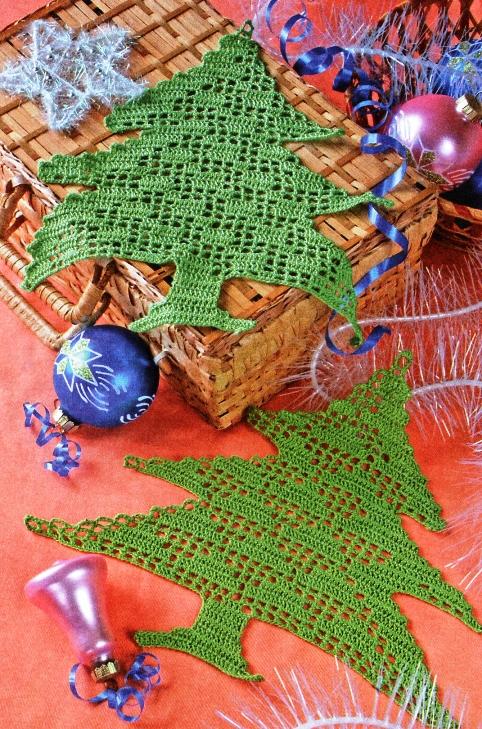 Вязаные елочки на Новый год
