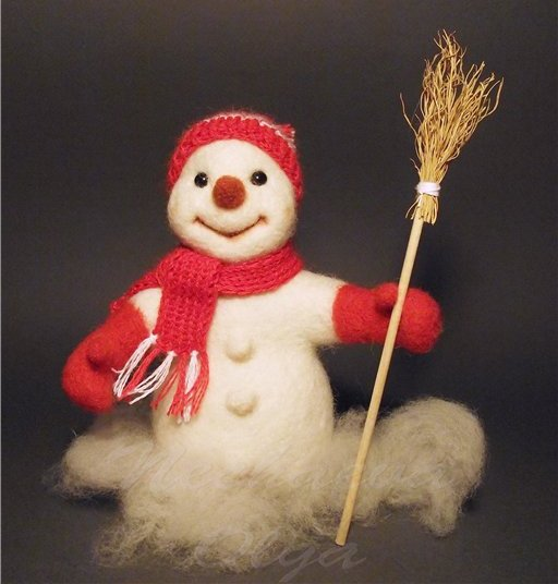 Валяем снеговика (мастер-класс)