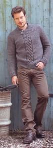 вязаный пуловер для мужчины
