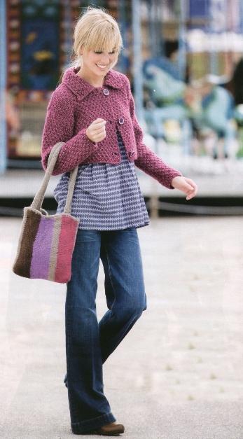 Укороченный жакет и сумка