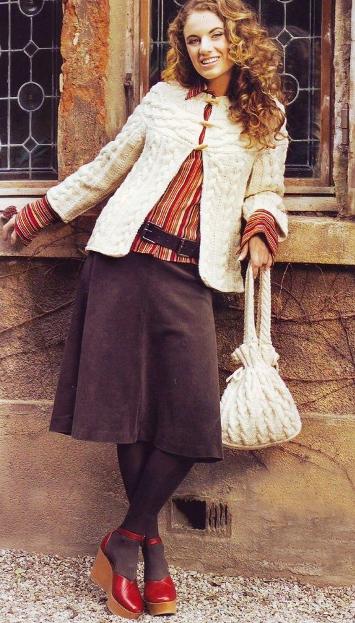 Жакет с косами и сумочка