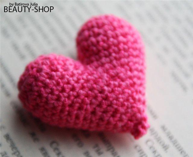 Вязаное сердце ко дню Св. Валентина