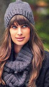 вязаная шапка и шарф-труба