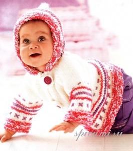 вязаная курточка для малыша