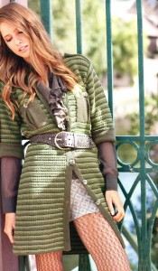 вязаное платье-пальто