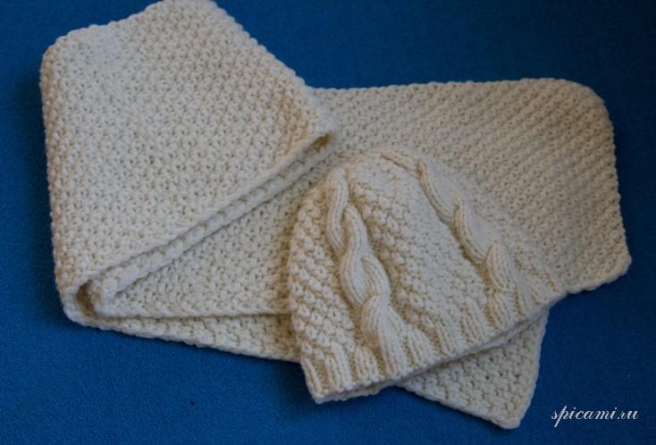 Как связать шапку и шарф