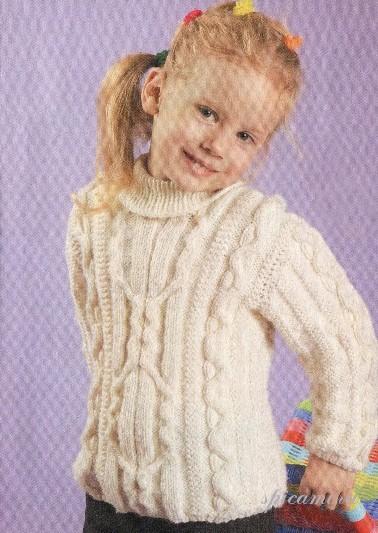Белый пуловер для девочки