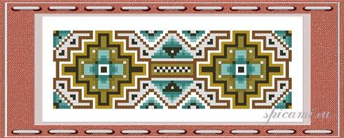 Индейский орнамент в вышивке